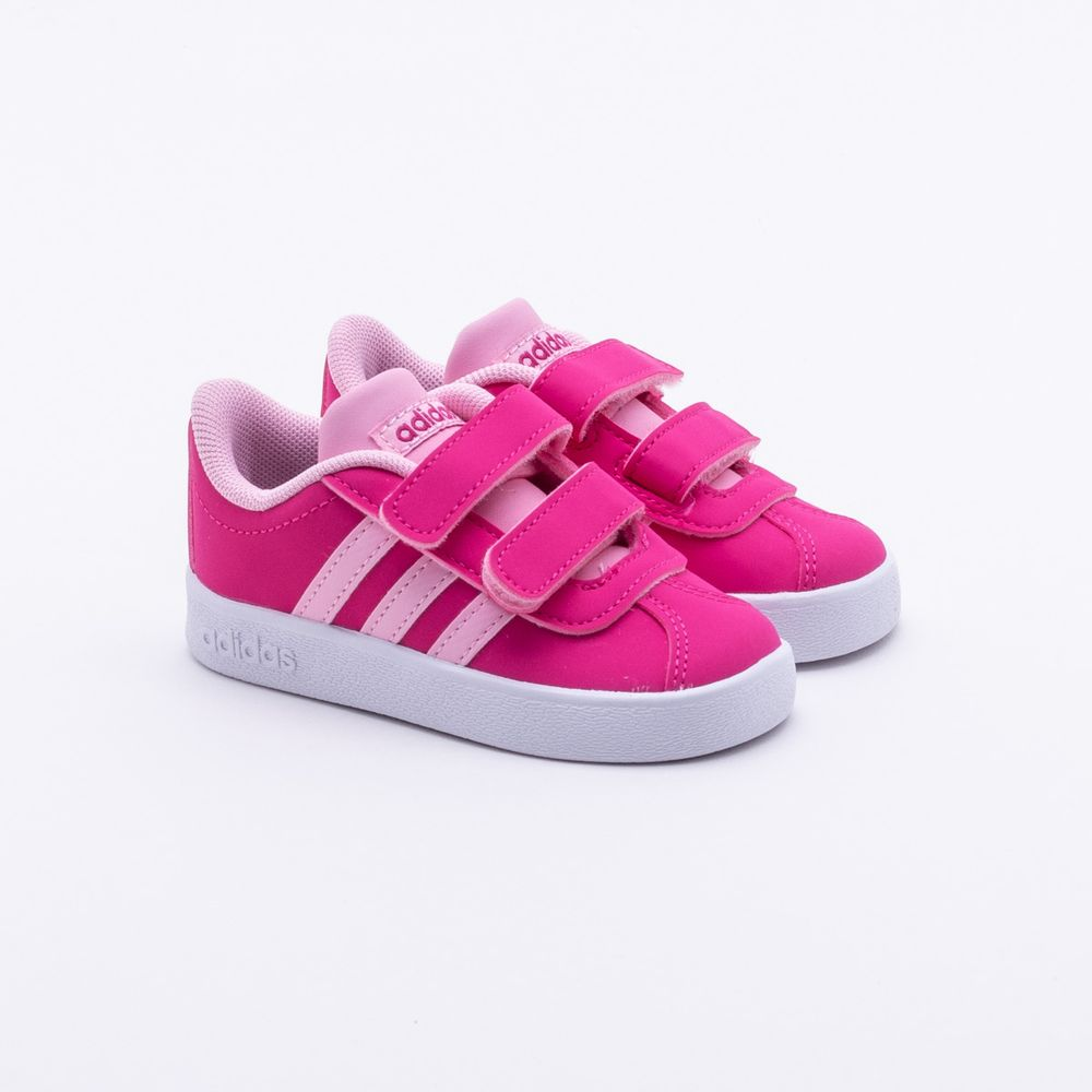 419a4874b5 Tênis Adidas Infantil VL Court 2.0 Rosa Rosa - Gaston - Paqueta Esportes