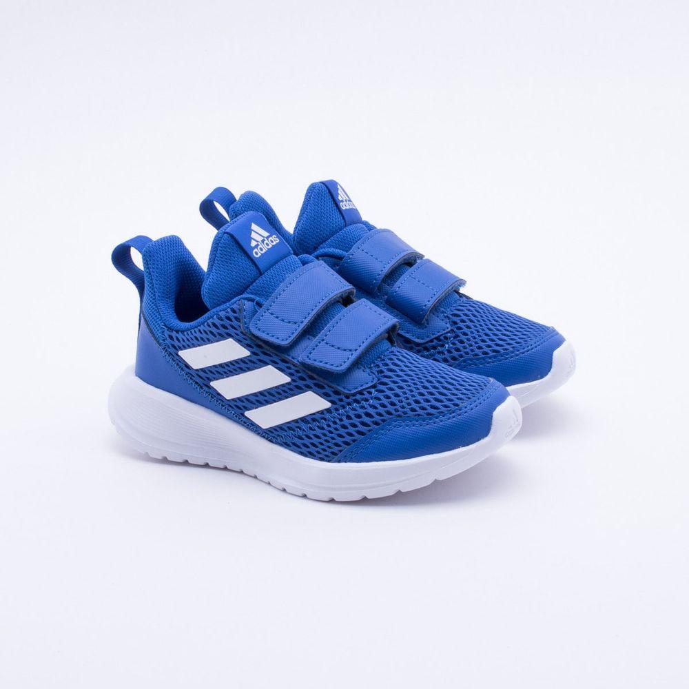 2ba3948699 Tênis Adidas Infantil Altarun CF K Azul Azul e Branco - Gaston ...