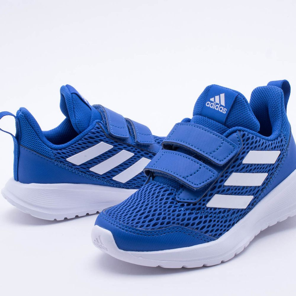 7c6ddbaef56 Tênis Adidas Infantil Altarun CF K Azul Azul e Branco - Gaston ...