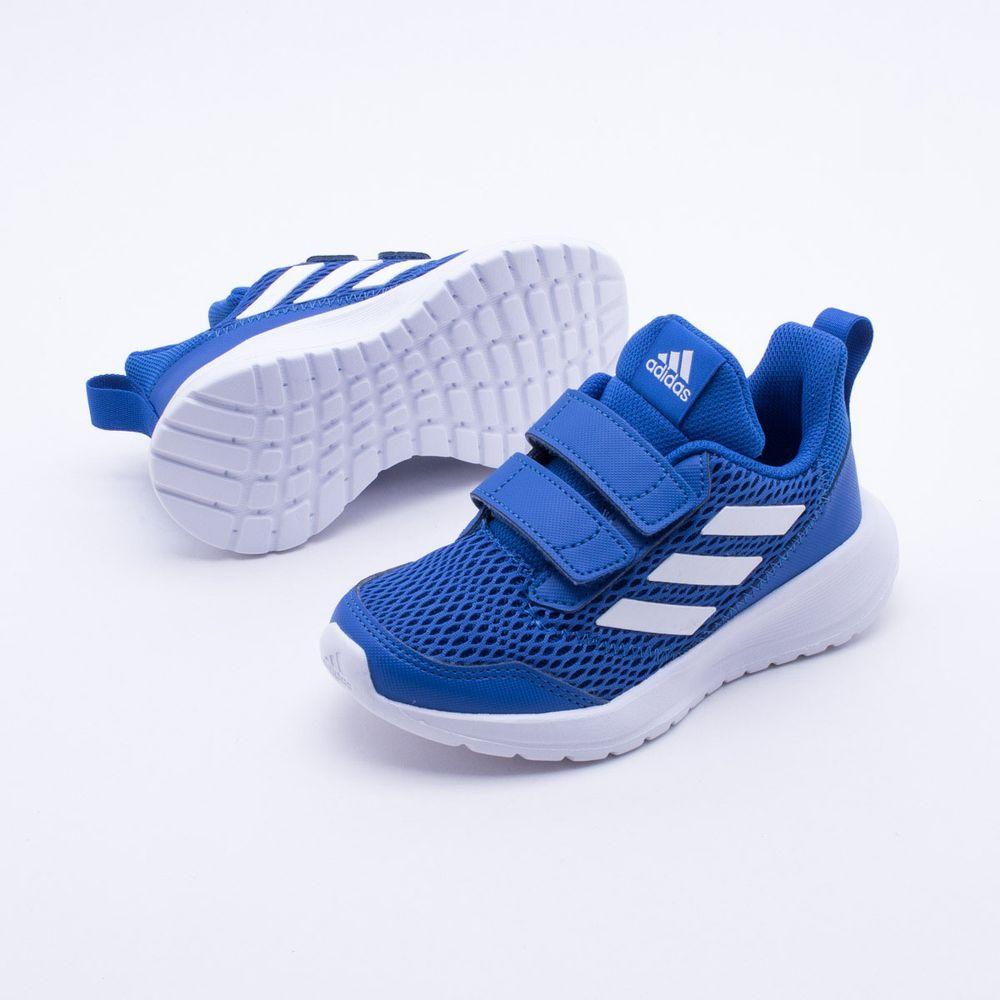 957e82ea94 Tênis Adidas Infantil Altarun CF K Azul Azul e Branco - Gaston - Paqueta  Esportes