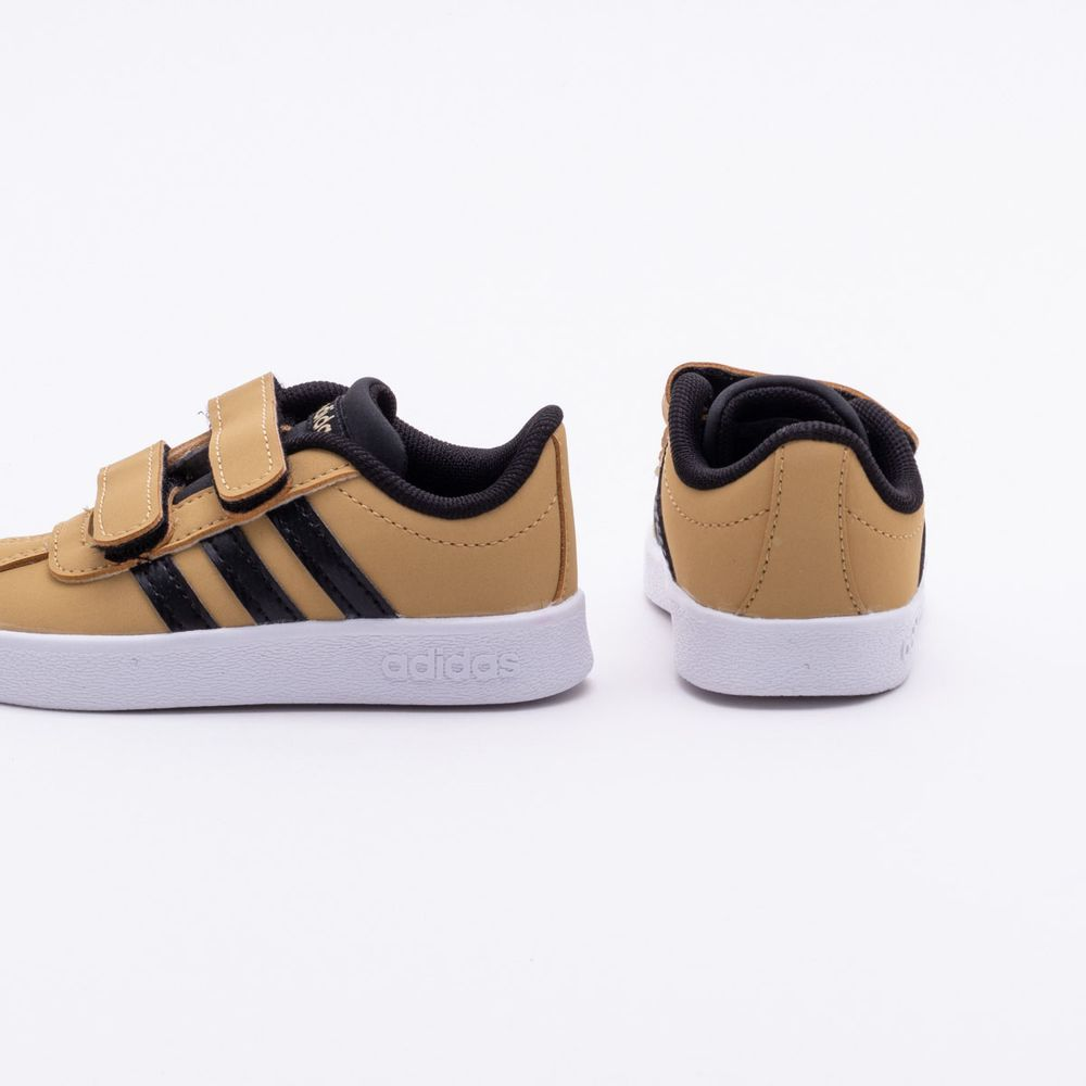 a4099c5a27 Tênis Adidas Infantil VL Court 2.0 Bege Bege e Preto - Gaston ...