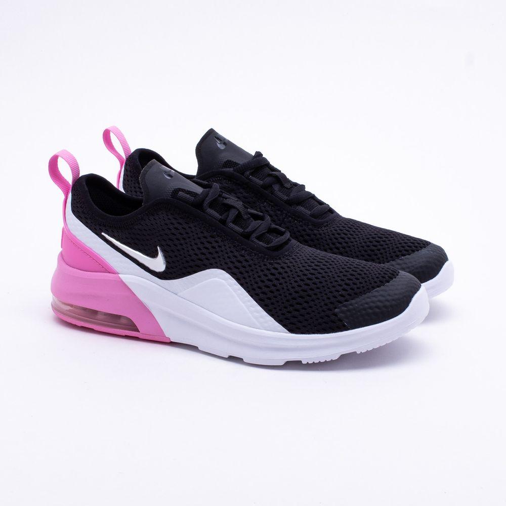 ebb6dc26237 Tênis Nike Juvenil Air Max Motion 2 Preto Preto e Rosa - Gaston ...