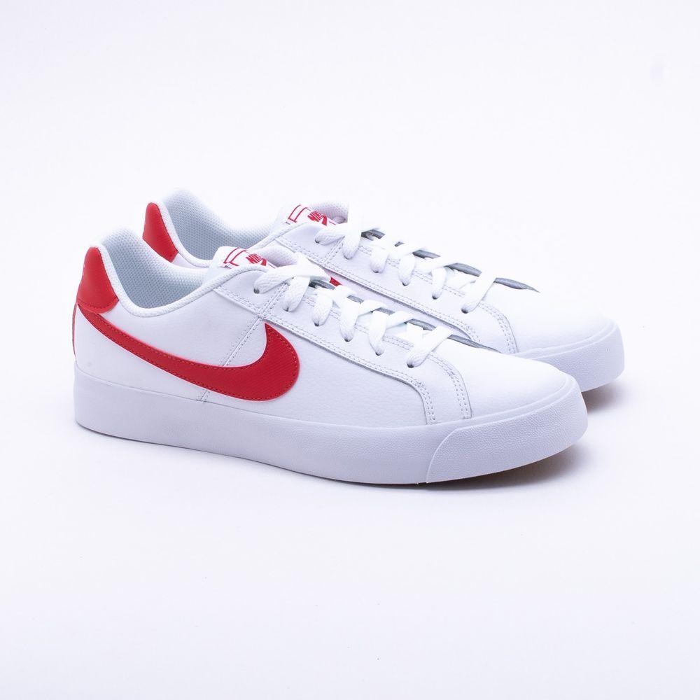 Tênis Nike Court Royale AC Branco Masculino Branco e Vermelho ... 779e51a3424e2