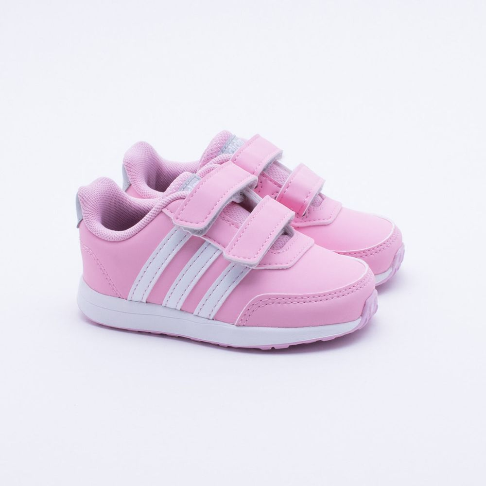 7b9a2a133ed Tênis Adidas Baby Switch 2.0 Rosa Rosa e Branco - Gaston - Paqueta ...
