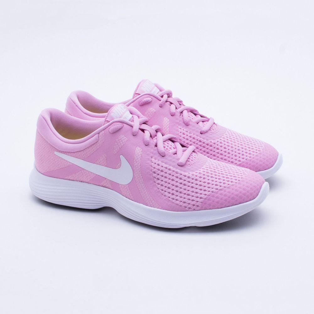 ed518ba2b50 Tênis Nike Juvenil Revolution 4 Rosa Rosa - Gaston - Paqueta Esportes
