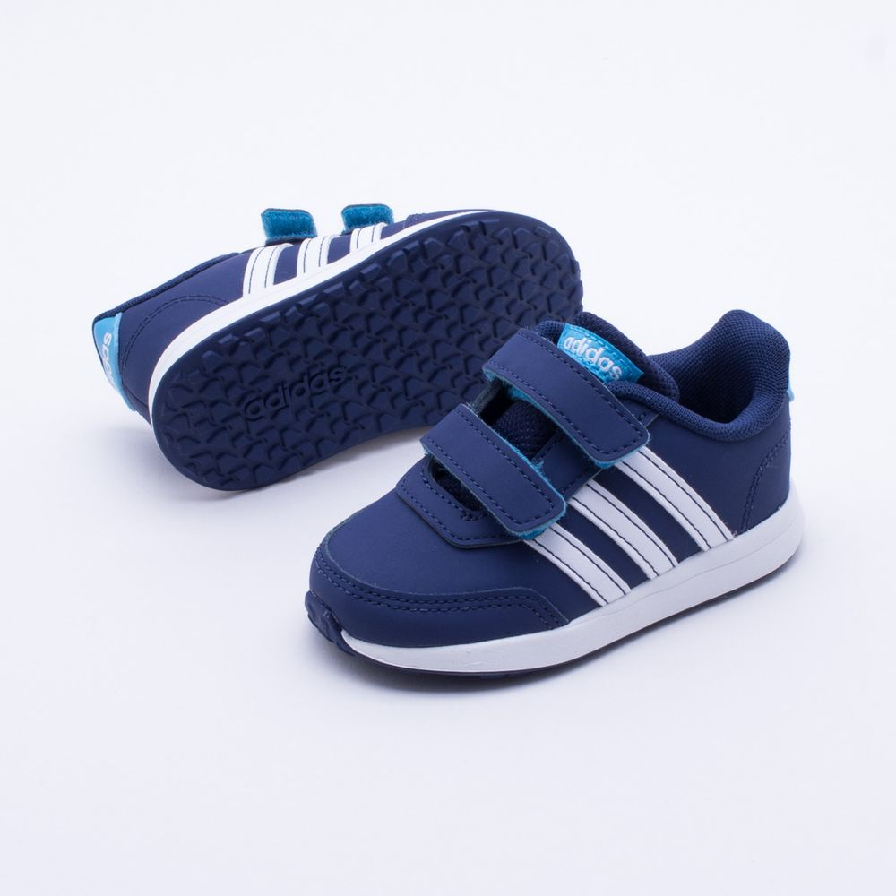 b8f12285f4 Tênis Adidas Baby Switch 2.0 Azul Azul e Branco - Gaston - Paqueta Esportes