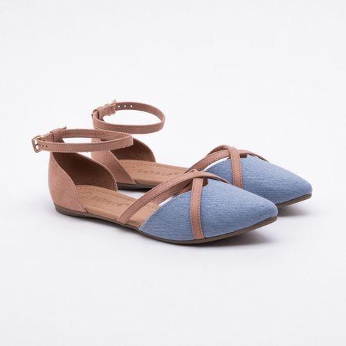 02deb39b05 Sapatilha Bebecê Jeans Azul