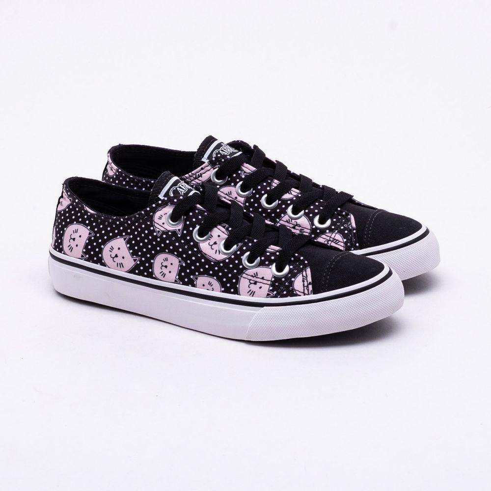 3008110040 Tênis Capricho Shoes Like Candy Preto Preto e Rosa - Gaston ...
