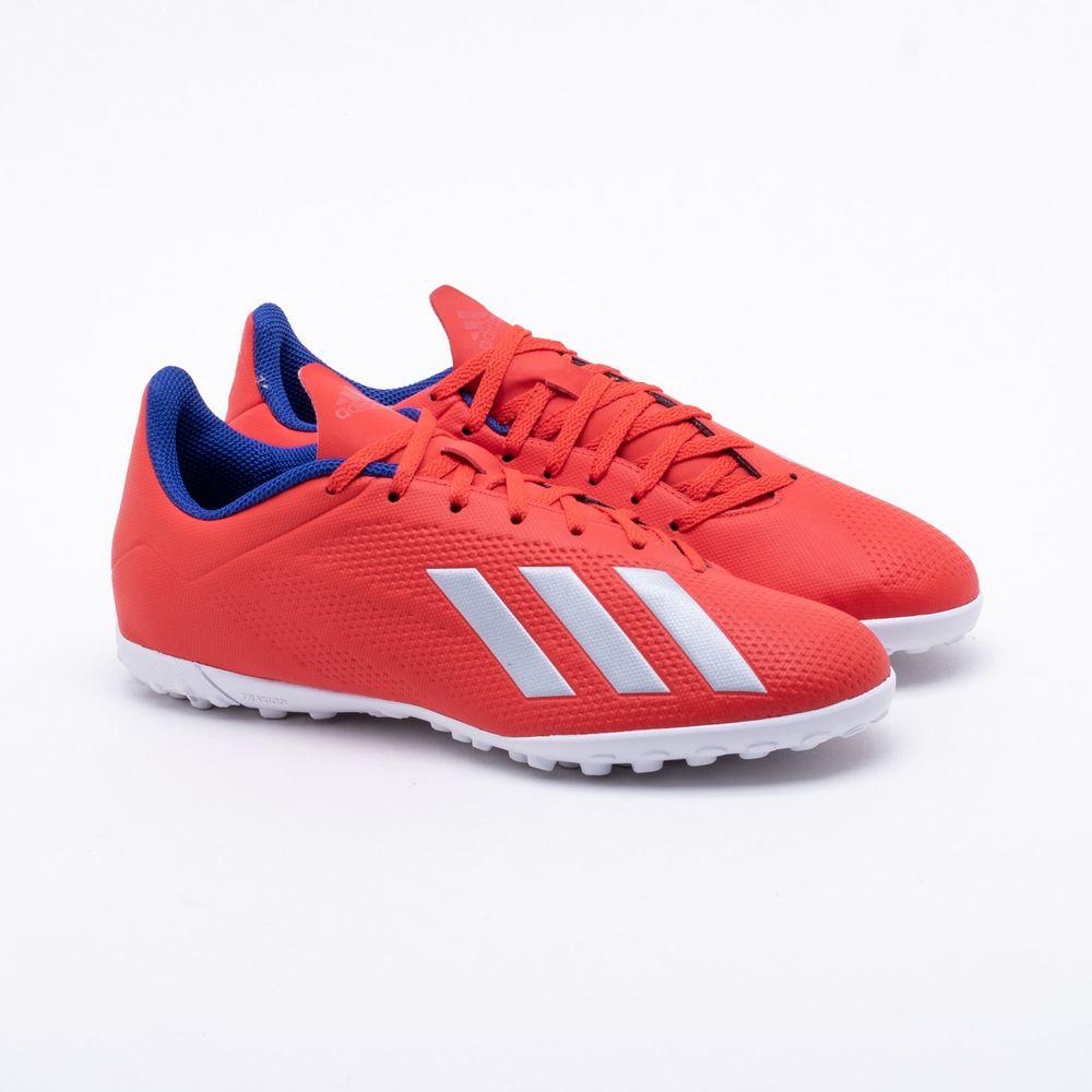 52c64f1ca35d1 Chuteira Society Adidas X Tango 18.4 TF Vermelho - Gaston - Paqueta ...