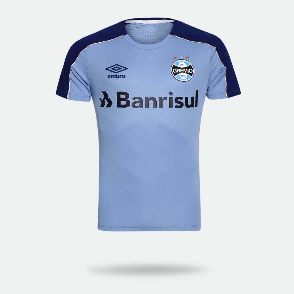c00d532c3970f Camisa Umbro Grêmio 2019 Treino Azul Celeste Masculina Azul Celeste ...