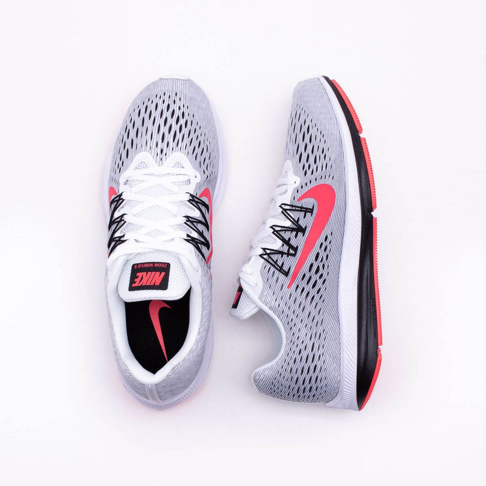 3d12c90d18b Tênis Nike Zoom Winflo 5 Masculino Branco e Vermelho - Gaston ...