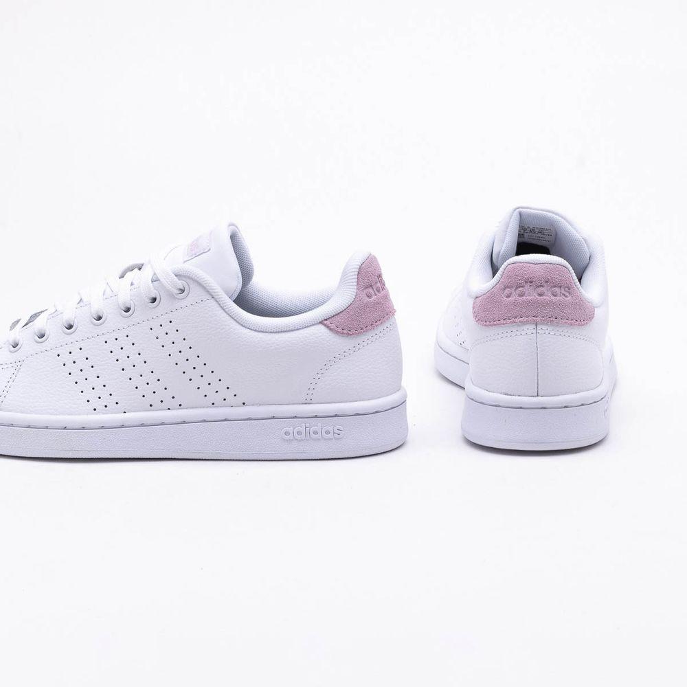 3b980284386 Tênis Adidas Advantage Branco Feminino Branco e Rosa - Gaston ...
