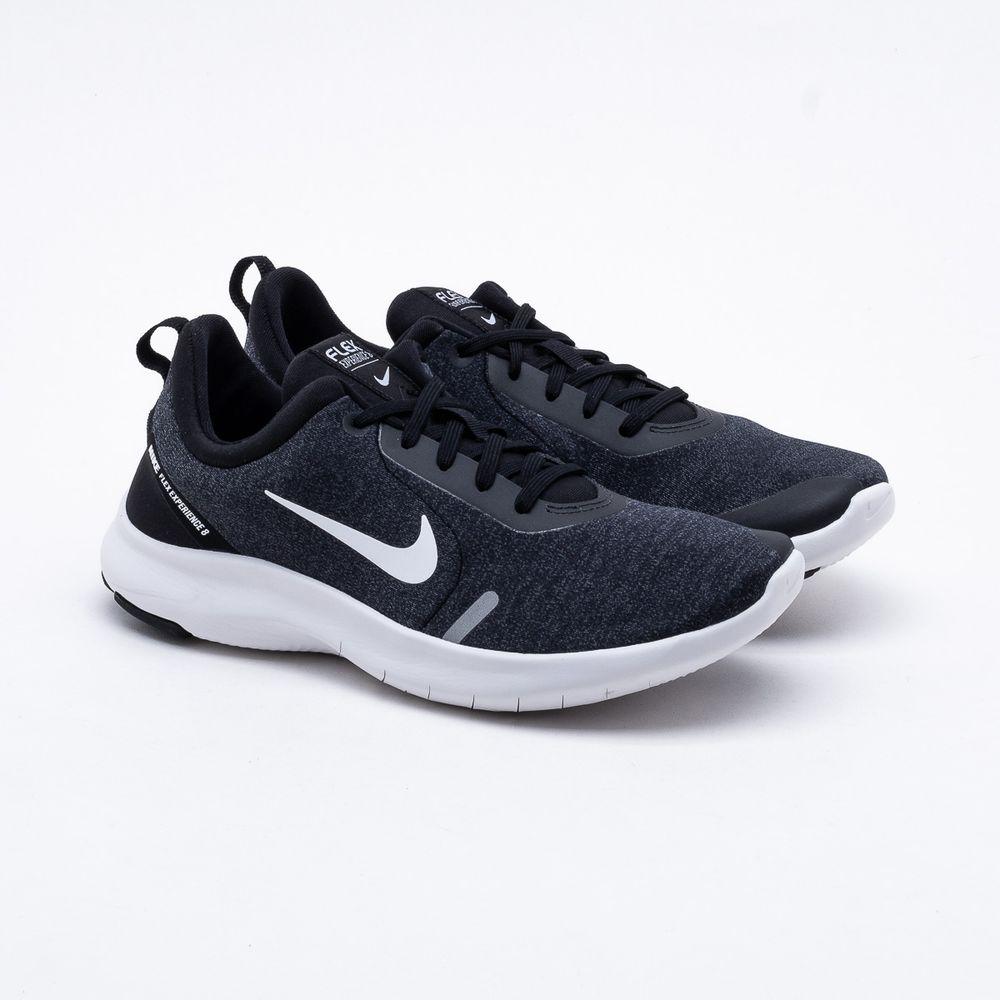 6420e9fd089 Tênis Nike Flex Experience RN 8 Masculino Preto e Cinza - Gaston ...