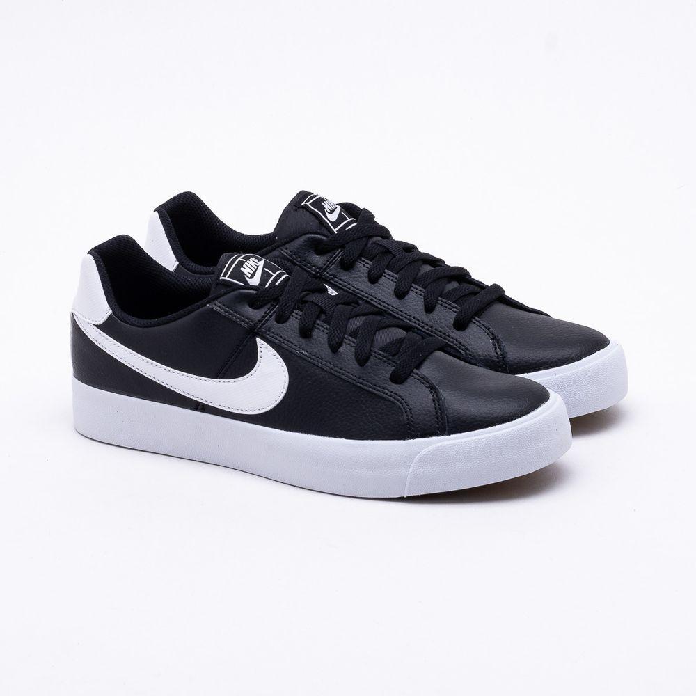 c158a2fdda Tênis Nike Court Royale Ac Preto Masculino Preto e Branco - Gaston ...