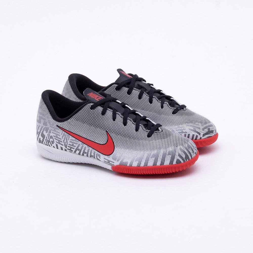 cfe308aaf7934 Chuteira Futsal Nike Mercurial Infantil Vapor 12 Neymar IC Branco e ...