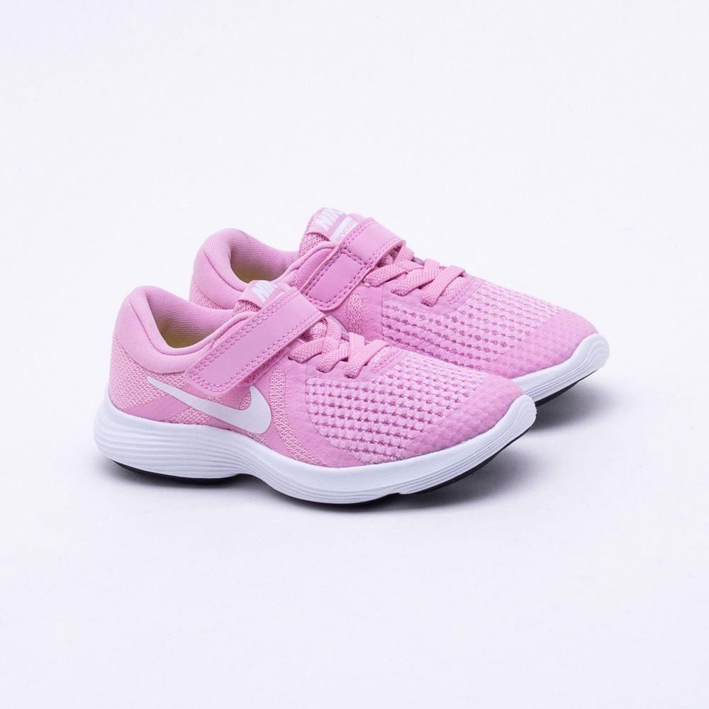 33d2e030afd Tênis Nike Infantil Revolution 4 Rosa Rosa e Branco - Gaston ...