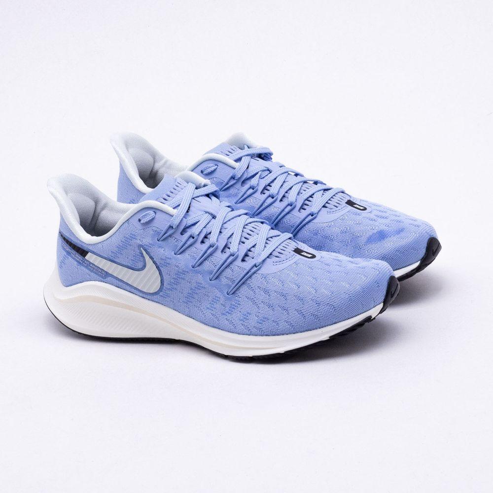 033e720dbebbb Tênis Nike Air Zoom Vomero 14 Feminino Azul e Branco - Gaston ...