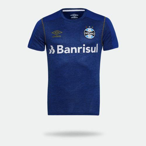 Camisa Umbro Grêmio Aquecimento 2019 Azul Masculina f5f73aca9ac8a