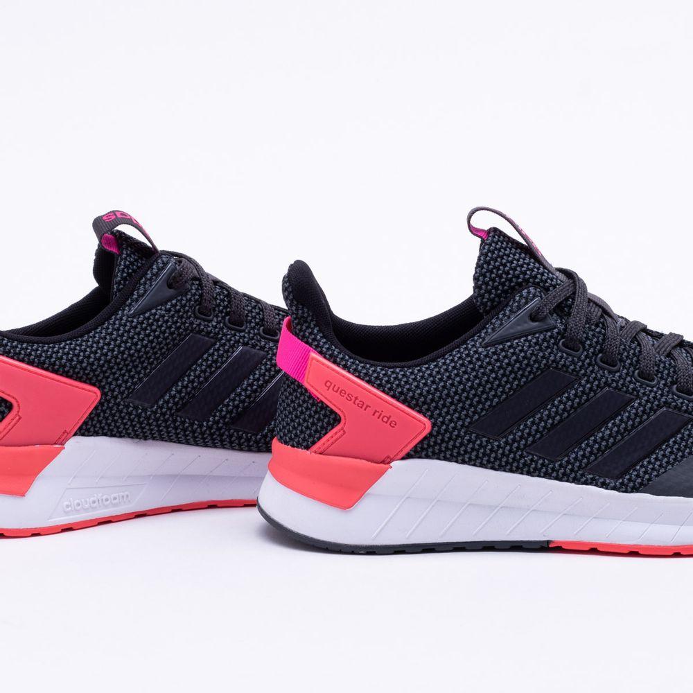 9a253992a Tênis Adidas Questar Ride Feminino Preto e Rosa - Gaston - Paqueta ...