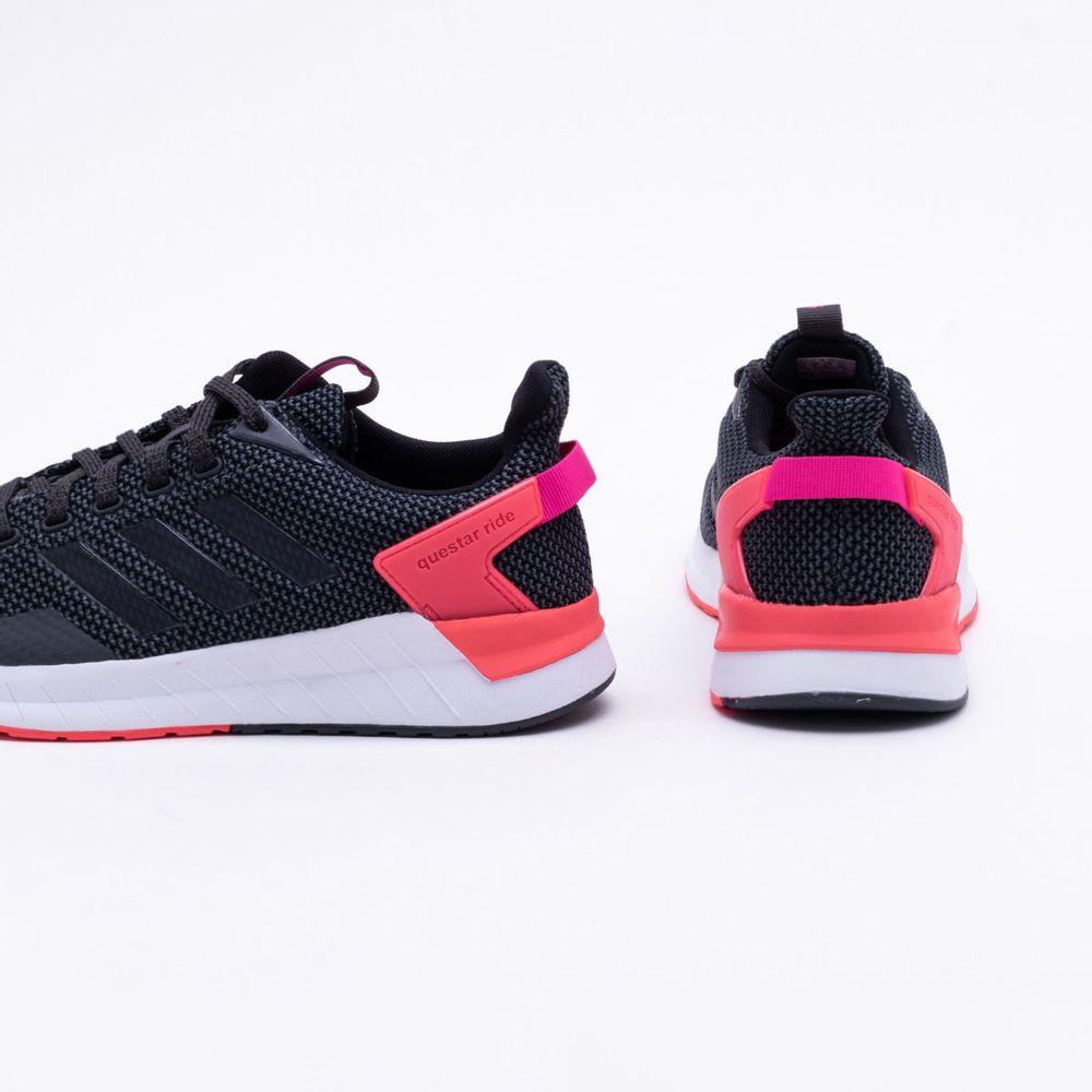 0928cce539 Tênis Adidas Questar Ride Feminino Preto e Rosa - Gaston - Paqueta ...
