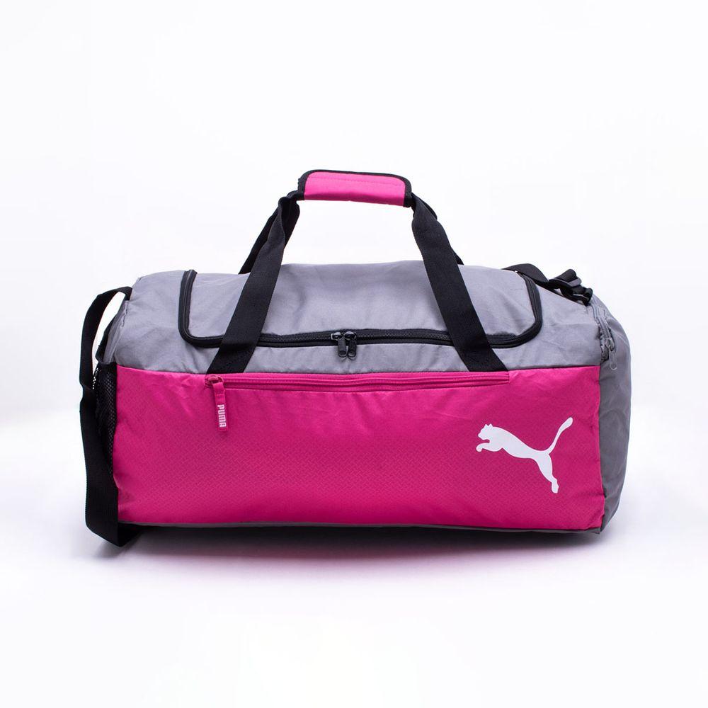 e96e31038 Bolsa Puma Fundamentals Sports Rosa Rosa e Cinza - Gaston - Paqueta ...