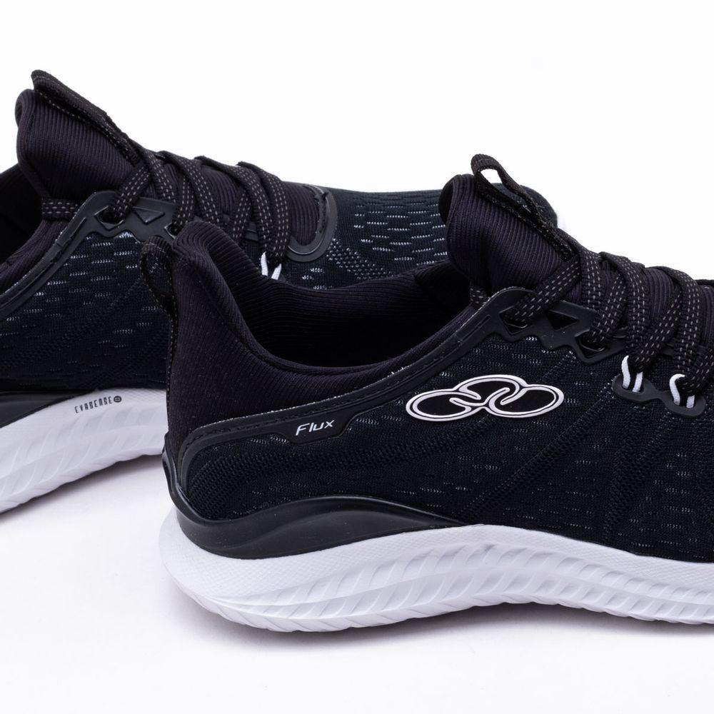 f337047948 Tênis Olympikus Flux Feminino Preto e Branco - Gaston - Paqueta Esportes