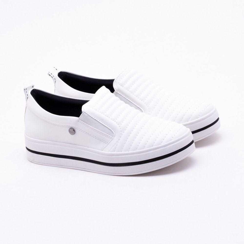 a93f3ea3d09 Tênis Quiz Flatform Branco Branco - Gaston - Paqueta Calçados