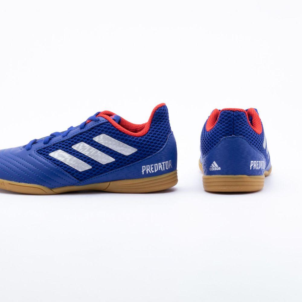 2192412160743 Chuteira Futsal Adidas Predator 19.4 IN Infantil Azul - Gaston ...
