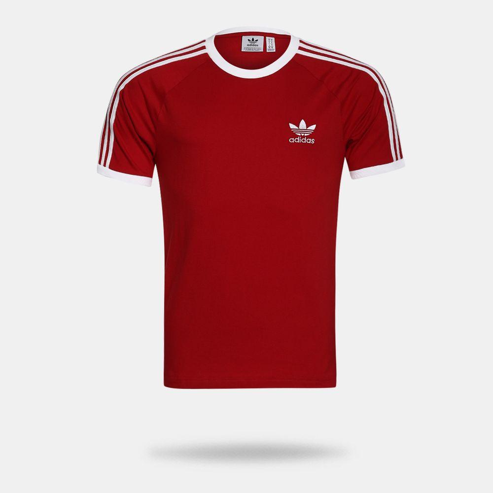 690e644813c Camiseta Adidas 3-Stripes Originals Vermelha Masculina Vermelho e ...