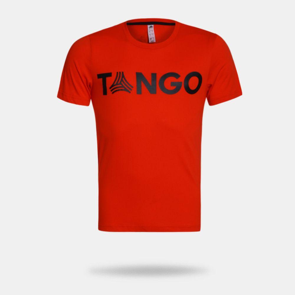 Camiseta Adidas Tango Graphic Vermelha Masculina Vermelho e Preto ... e15307c7bf0