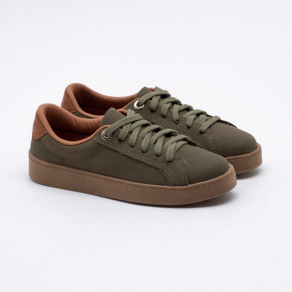 00a448502c Tênis Bebecê Verde Militar Verde Militar - Gaston - Paqueta Calçados