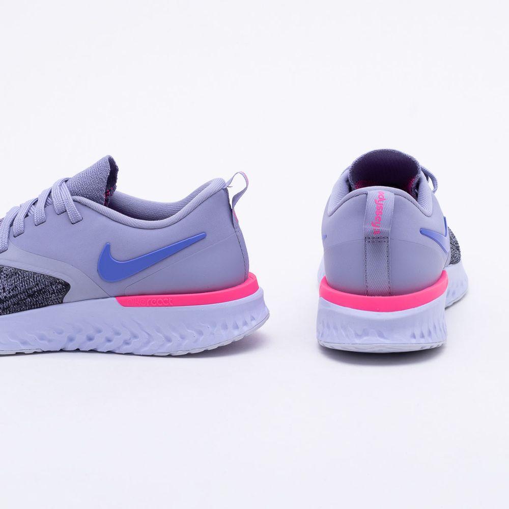 9a161d0b24c Tênis Nike Odyssey React 2 Flyknit Feminino Cinza e Azul - Gaston ...