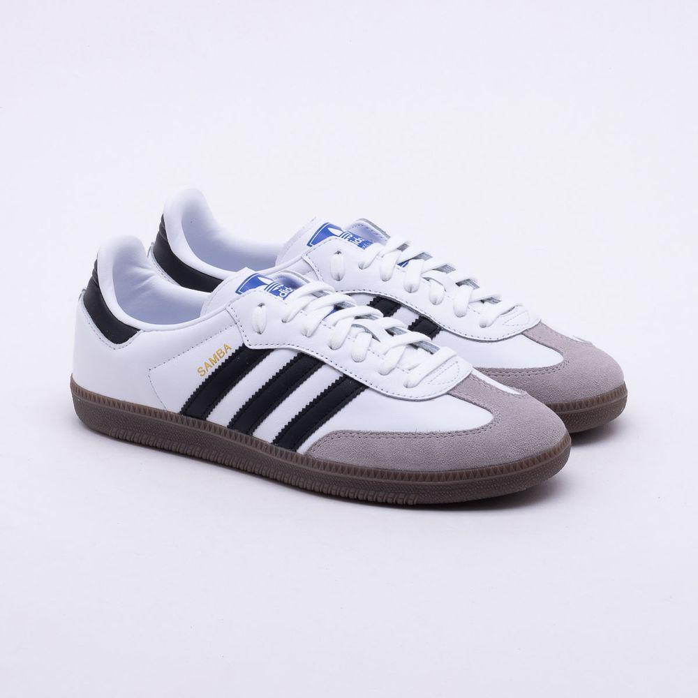 223624570e Tênis Adidas Samba OG Originals Branco Masculino Branco e Preto ...