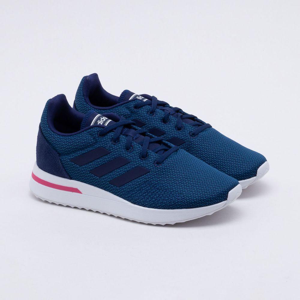 e30187adbd7 Tênis Adidas Run 70S Feminino Azul e Rosa - Gaston - Paqueta Esportes