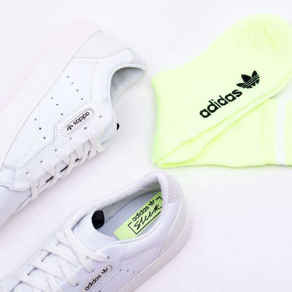 23d183b11c4 Tênis Adidas Sleek Originals Branco Feminino Branco - Gaston ...