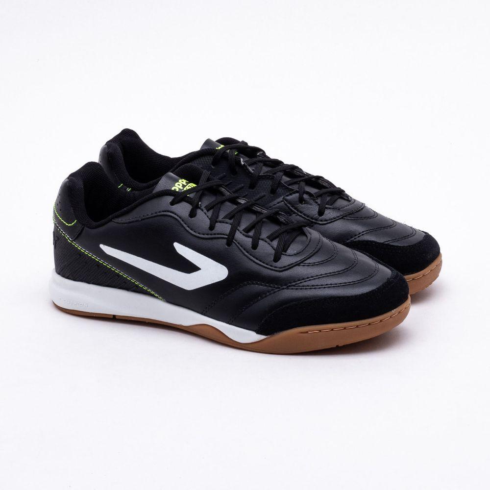 30a438780ebb4 Chuteira Futsal Topper Maestro Preto e Branco - Gaston - Gaston