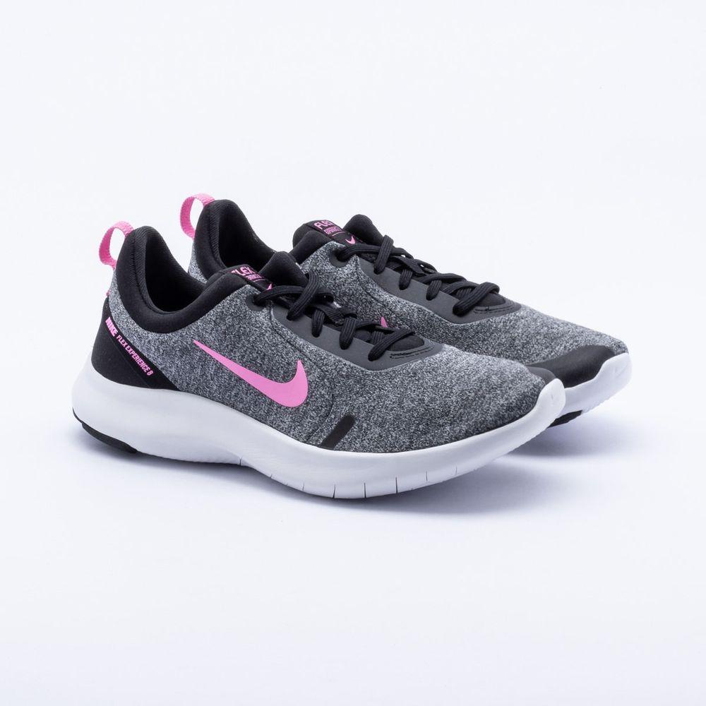 4e31e429928 Tênis Nike Flex Experience RN 8 Feminino Cinza e Rosa - Gaston ...