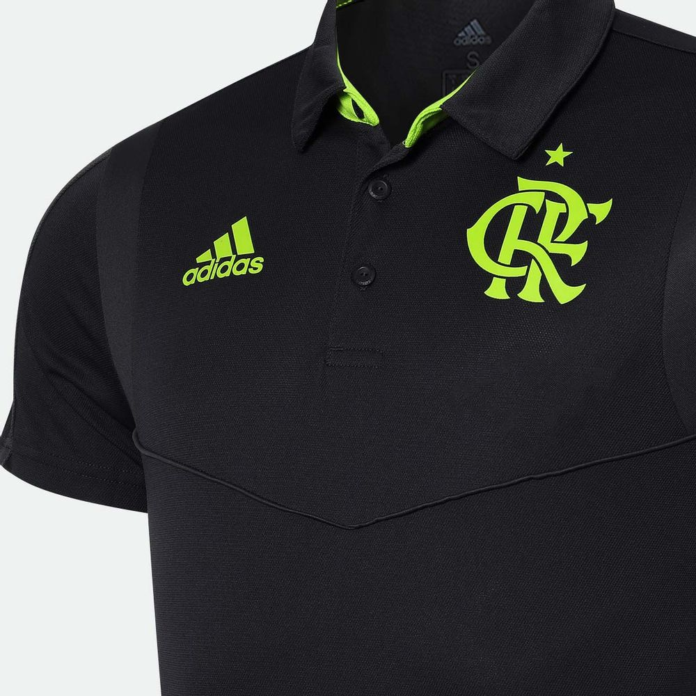 48d0bbf391 Camisa Polo Adidas Flamengo 2019 Carbono Masculina Carbono - Gaston ...