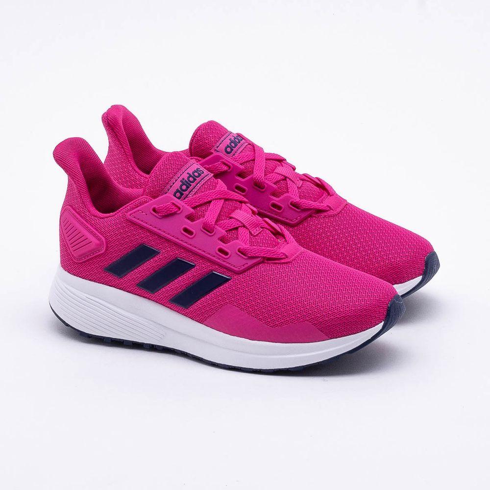 32a879037ae Tênis Adidas Infantil Duramo 9 K Rosa e Branco - Gaston - Paqueta ...