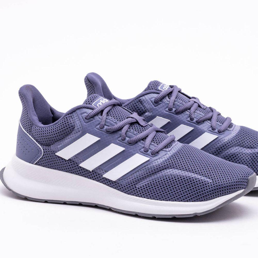048385ce798 Tênis Adidas Falcon Feminino Cinza e Branco - Gaston - Paqueta Esportes