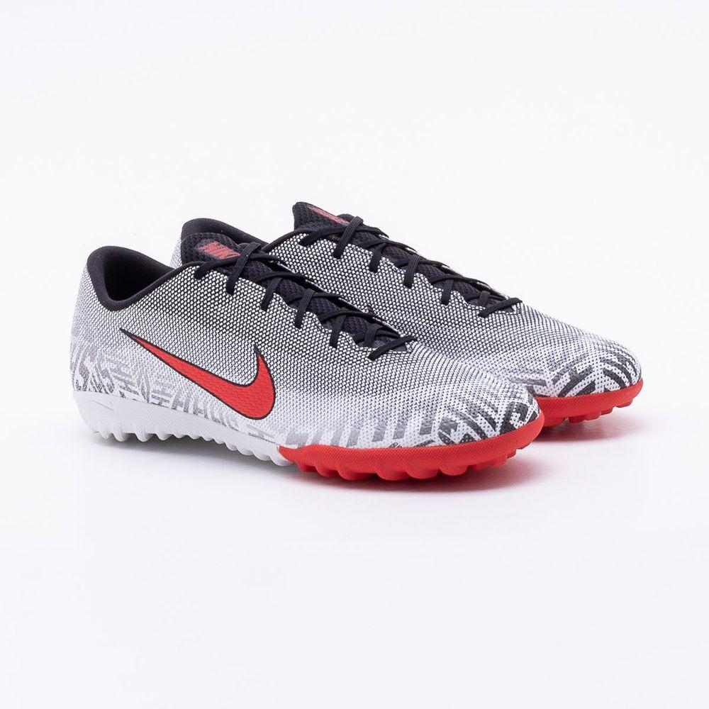 d9d8548bca Chuteira Society Nike Mercurial Vapor 12 Academy Neymar Preto e Branco -  Gaston - Gaston