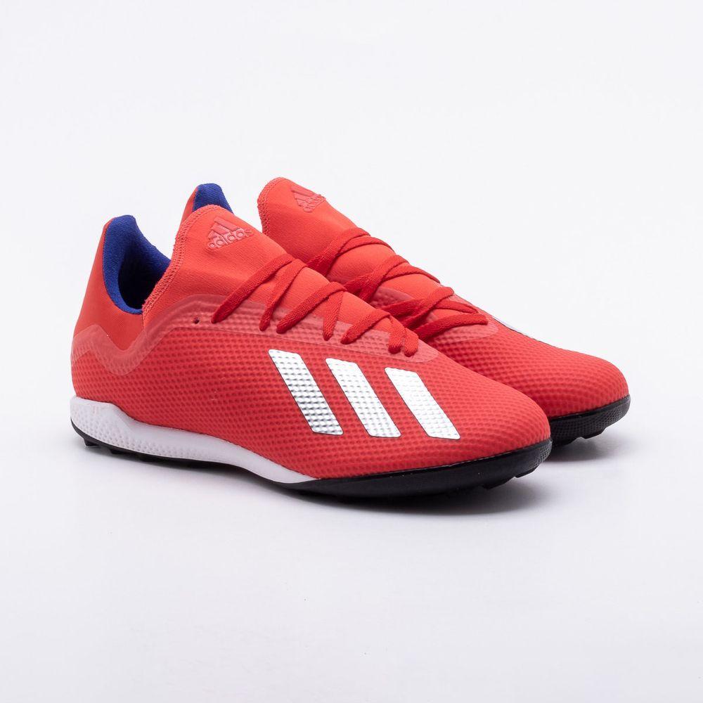c8e8ff42c13a1 Chuteira Society Adidas X 18.3 TF Vermelho - Gaston - Gaston