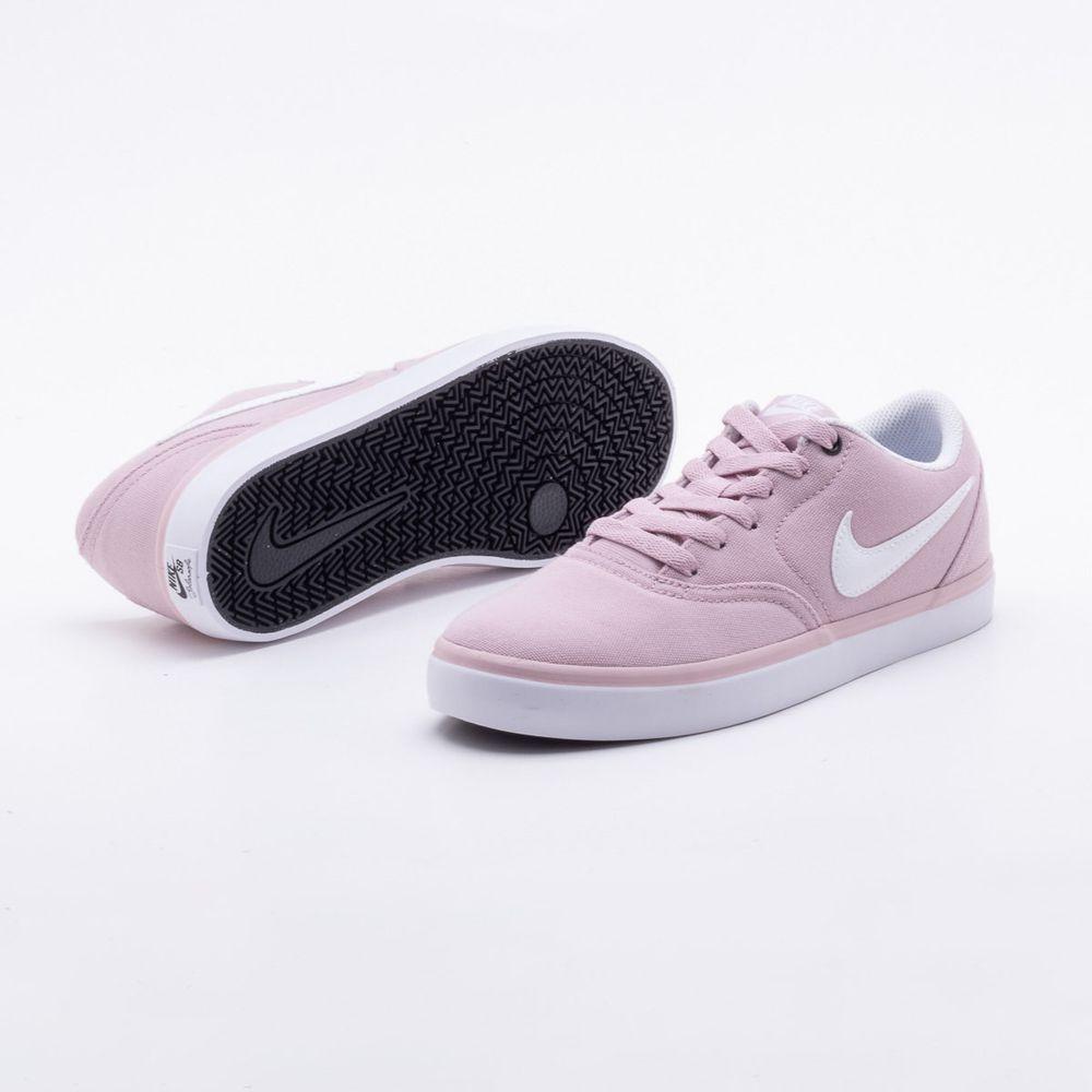 fba51cbfa1a Tênis Nike SB Check Solarsoft Canvas Rosa Feminino Rosa - Gaston ...