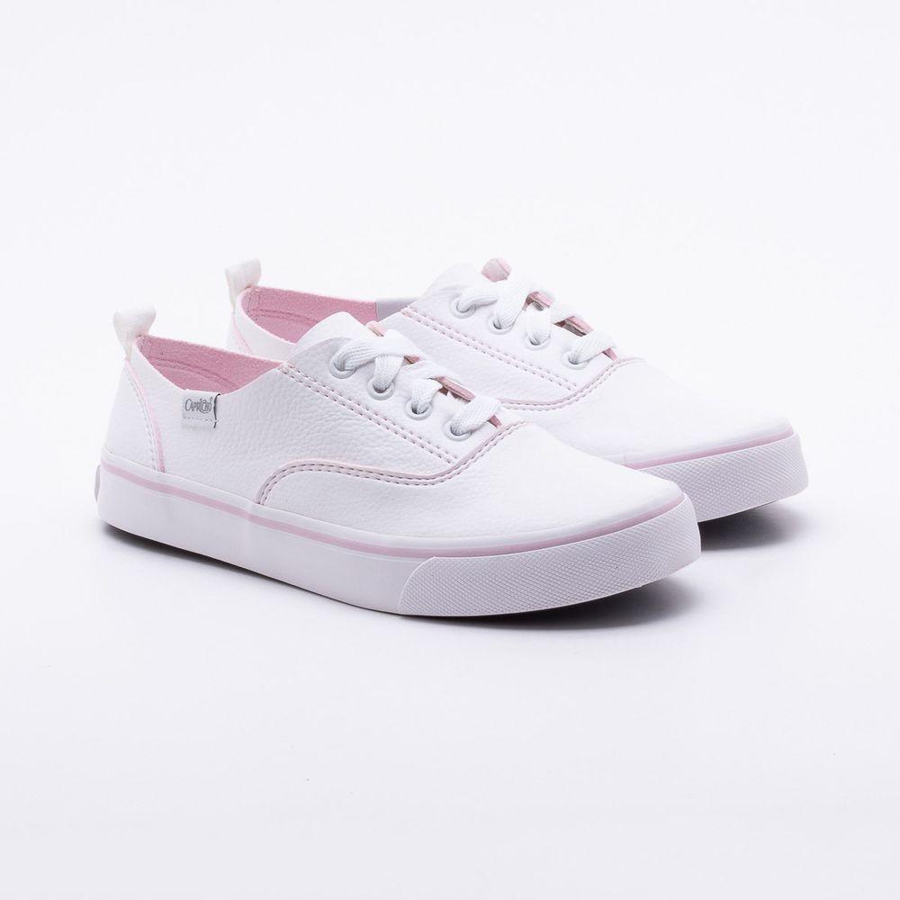 dbf87b8d9ad Tênis Capricho Shoes Lanai Yarn Branco Branco e Rosa - Gaston - Gaston