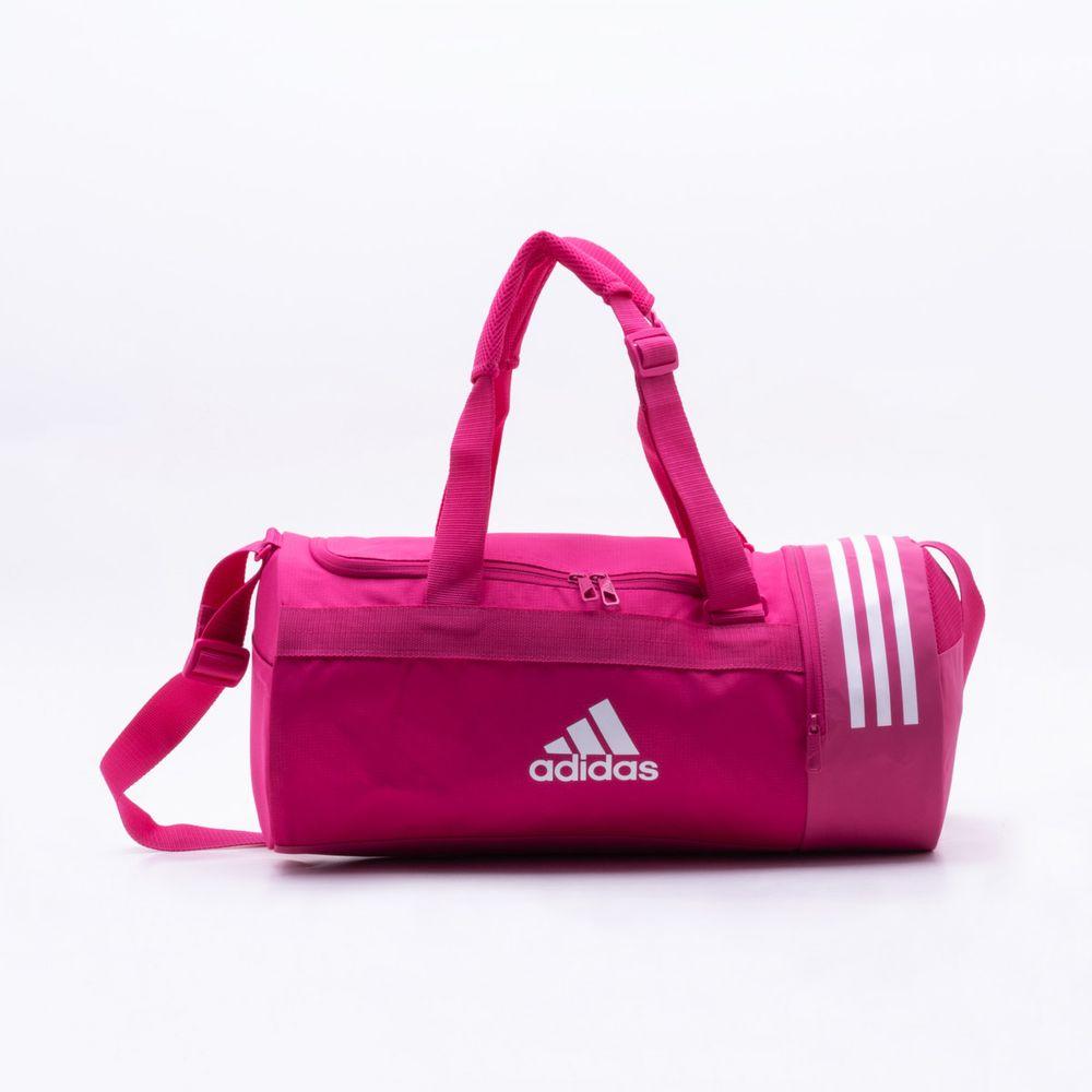 0011b9417 Bolsa Adidas 3 Stripes Duffel Rosa Rosa - Gaston - Paqueta Esportes