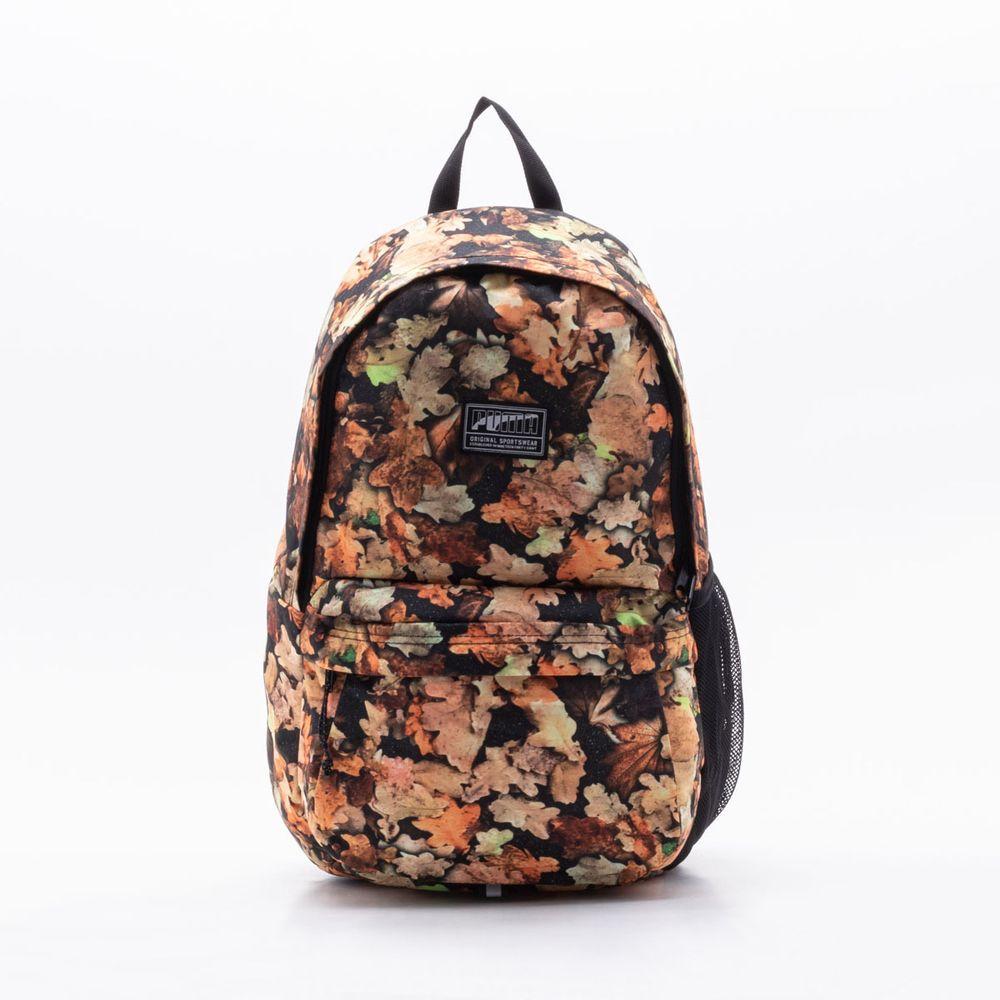 567059a2767 Mochila Puma Academy Backpack Preta Preto e Floral - Gaston ...