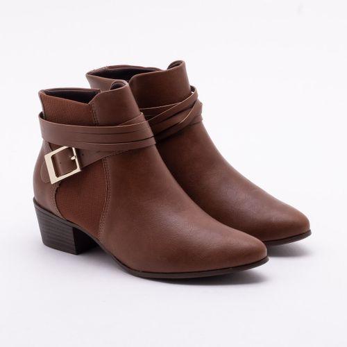 592e99e817 Ankle Boot Ramarim Salto Grosso Mogno