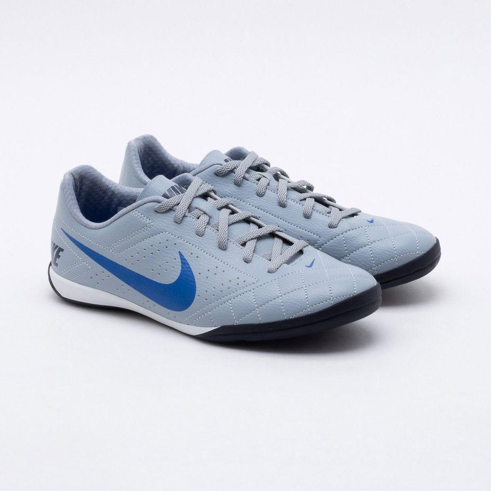 27ee1b93ab19b Chuteira Futsal Nike Beco 2 Cinza Cinza e Azul - Gaston - Gaston