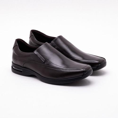 7af1e5460 Sapato Casual Democrata Air Spot Couro Brown
