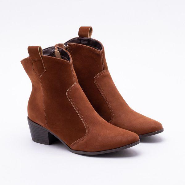 a42de720283 Ankle Boot Firezzi Nobuck Whisky